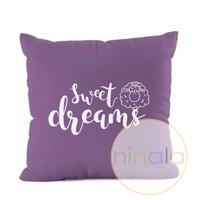 SARUNG BANTAL Sweet dreams COVER CUSHION UNGU