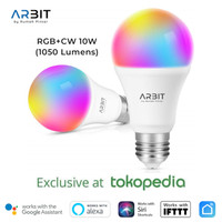 ARBIT - Smart Wifi 10W RGB+CW LED Bulb Works Alexa Google IFTTT