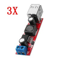 3pcs DC-DC 3A Step Down Regulated Power Module Car Charger