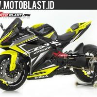 Decal Stiker CBR250RR Black Sporty Yellow