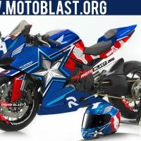 Decal Stiker Honda CBR250RR Captain America