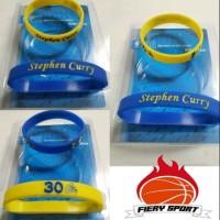Gelang Basket stephen curry biru Kuning 1 pack isi 2