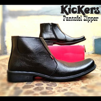 Sepatu Pantofel Kickers Zipper Hig for Man