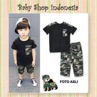 Setelan Anak Import Setelan Anak Cowo Murah Baju Anak Army Style Hitam