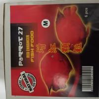 makanan ikan louhan PARROT 27 red enhancer 100 gr uk 2 mm medium