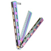 Sisir Besi Butterfly Balisong Training Knife multicolor