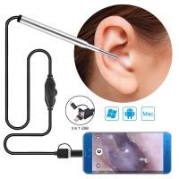 Kamera Endoscope HD USB / kamera periksa telinga type c / micro / usb