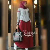 Pakaian Murah Wanita Varissa Dress Maxi Grosir Baju Muslim Gamis Syari