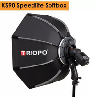 Softbox Speedlite TRIOPO Octagonal KS-90 Diameter 90cm