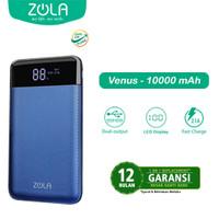 Zola Powerbank Venus 10000mAh Smart LED Display 2.1A Fast Charging