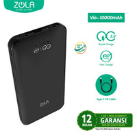 ZOLA VIO 10000mAh Fast charging Quick Charge QualComm 3.0 + PD