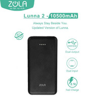 ZOLA Powerbank Lunna Gen 2 10500 mAh Dual Output Fast Charging 2.1A