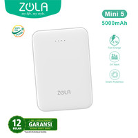 ZOLA Mini 5 Powerbank 5000mAh Fast Charging 2.1A Dual Output Mini Size