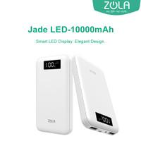 Zola Powerbank Jade Led 10000mAh Smart Led Display Fast Charging 2.1A