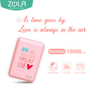 ZOLA Powerbank Romeo Edisi Valentine 10000mAh Fast Charge 2.1A