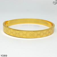 Y69 Gelang Bangkok Bangle Cartier -Perhiasan Imitasi Xuping Lapis Emas