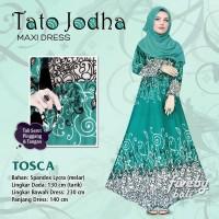 Maxi Dress Gamis Spandex Bali Tato Jodha Motif Etnik