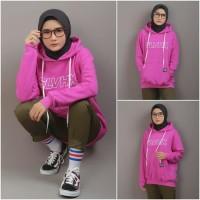 Jaket Sweater Hoodie Pria Wanita Keren Terbaru / Distro Bandung / Pink
