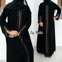 Abaya Arab [ Gamis Hitam [ Dres Hitam [ Pakean Muslimah Syar'i Elegan