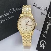 JAM TANGAN WANITA ALEXANDRE CHRISTIE AC 1010 GOLD ORIGINAL MURAH