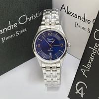 JAM TANGAN WANITA ALEXANDRE CHRISTIE AC 1010 SILVER BLUE ORIGINAL