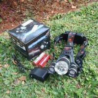 paket headlamp senter kepala cree XM-L T6 5000 L baterai X2 - charger