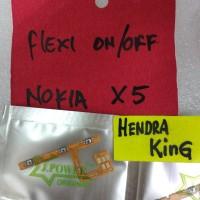 flexible on/off Nokia X5 / flexibel on off volume nokia X5 5.1plus