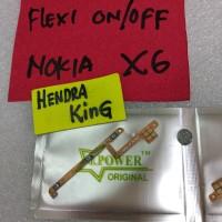 flexible on/off Nokia X6 / flexibel on off volume nokia X6 6.1 plus