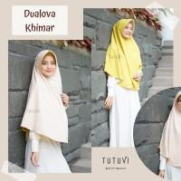 Khimar Syari ORI Tutuvi Hijab Dualova Khimar Diamond Stretch Pet Antem