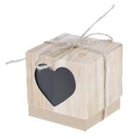 10Pcs Kotak Permen Desain Hati Warna Hitam untuk Dekorasi Pesta