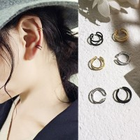 Anting Tusuk Model Klip Telinga Kecil Gaya Korea untuk Wanita H3