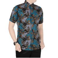 VM Kemeja Batik Pendek Slimfit Batik Pria Modern - B-416