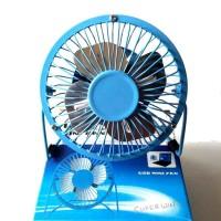 SANHUAI USB Mini Fan A18 - Kipas Angin Besi Portabel 5 Inch