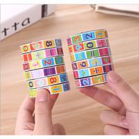 Mainan Edukasi Puzzle Kubus Colorful Bahan Plastik Untuk Anak