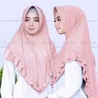 bergo khimar jilbab instan syari zalina hijab instant polos jersey