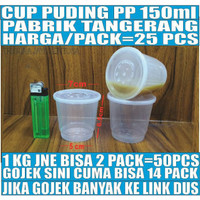 Cup puding 150ml 25pcs tempat selai gelas eskrim slime sambal merpati