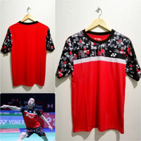 Jersey Bulutangkis Baju Badminton Minion Yonex Catur Merah Go Import
