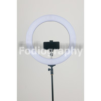 PAKET RING LIGHT LED PORTABLE + LIGHT STAND - Hitam Portable