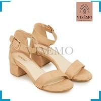 Sepatu Hak Chunky / Big 3535 Block Heels - MIDI ALDERA Cream by VIMMO