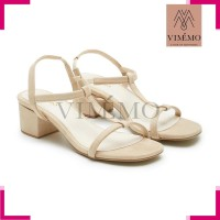 Sepatu Hak Chunky / Big 2965 Block Heels - AMORA Cream By VIMMO
