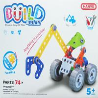 PUZZLE BUILD & PLAY GRAB WOOD MACHINE |MAINAN PUZZLE MOBIL ANGKUT KAYU