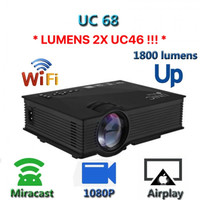 Projector with Miracast AirPlay 1800 Lumens UNIC UC68 - 2x UC46 Lumens
