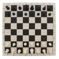 Travel Chess Set - Roll Up Chess Board Set In Carry Tube 43x8cm