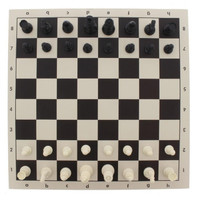 Travel Chess Set - Roll Up Chess Board Set In Carry Tube 35x8cm