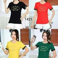 T-shirt cewek PRD import bordir