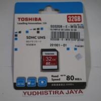 Toshiba SDHC 32GB 80MB/s Class 10 (Resmi) 100% Original