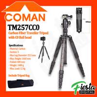 COMAN TM257CC0 CARBON FIBER Traveller Tripod with C0 Ball Head