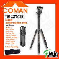 COMAN TM227CU0 Black CARBON Traveller Ball Head Tripod