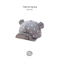 Hey Baby Polka Ear Cap Grey