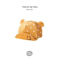Hey Baby Polka Ear Cap yellow